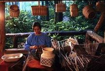 Oconaluftee Indian Village / Come tour the authentic working village here in Cherokee, NC with dwellings, residents, and artisans right out of the 1760's. Open May through mid-October.