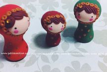 Petite Caótica / Handmade with air dry clay and polymer clay. Since 2009. By Petite Caotica (Angie Ron)