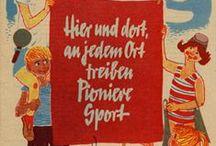 """""""Fröhlich sein und singen""""  DDR GDR / Bücher, Bilder, Blaue Wimpel. Ostalgie und DDR Geschichte. Junge Pioniere, FDJ, Trabant, Intershop und HO. Hübsche Mädchen und stolze Jungen auf Postern, Briefmarken und Propaganda. Vopos und NVA. ------ Books, vintage pictures and more from the former GDR, Eastern Germany. Young Pioneers, Intershop and Trabbi cars. Cute girls and proud boys pictured on posters, stamps and propaganda. Red Army, communists and NVA. / by peterchens mondfahrt"""