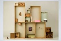 Doll's house / miniature worlds, tiny furniture and clever upcycling
