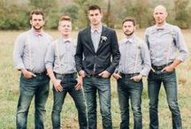 Groom & Groomsmen / Passionate about helping you look and feel confidently beautiful. Visit AmandaBadgleyDesigns.com for more inspiration