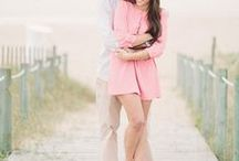 Engagement Photo Outfits / Passionate about helping you look and feel confidently beautiful. Visit AmandaBadgleyDesigns.com for more bridal style advice