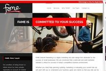 Fame - Our Websites! / Snapshots of work Fame has completed