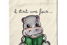 TOTE BAGS Virginie BERNE Illustrations