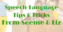 ☼ Speech and Language Tips / Lots of info about language development, tips for parents, red flags to watch out for and how to encourage strong language development right from birth!