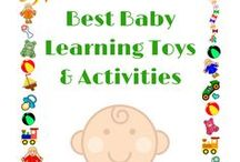 Best Baby Learning Toys & Activities / Best Baby Learning toys and activities for babies development.  Focusing on learning naturally through play.