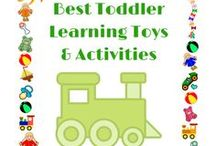Best Toddler Learning Toys & Activities / Best toddler earning toys and activities.  Focus on learning naturally through play.  Child led play with some adult guidance. Play based Montessori learning toys.