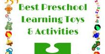 Best Preschool Learning Toys & Activities / Best preschool learning toys and activities to encourage language development and learning through play.  Montessori play based learning activities.