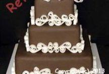 ChocolateCakes@CakeRental.com / Brown, chocolate themed weddings