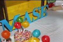 Mason's second birthday- Rainbow theme