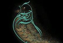 Sanat - Hüsn-ü Hat  *** Art - Calligraphy / by Ayşen Cumhur Özkaya