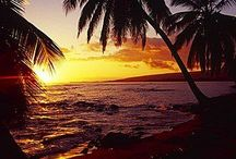 Zon, maan, zee, strand