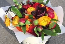 flower  arrangements in box