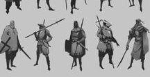 Character silhouettes / Character silhouettes and thumbnails