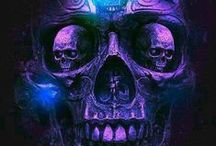 Skull Art / This board mainly contains paintings, art, optical illusions, sculpture, antiquities, jewelry and anything dealing with the subject of skulls or things that are made into skulls.  There are real skulls on the board if they are used in an artistic fashion.
