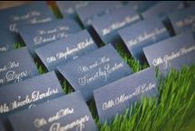 Place Cards / Place cards, escort cards, gift tags in calligraphy.