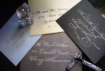 Envelopes / Addressing in calligraphy for weddings and special occasions