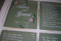 Menus and Seating Charts / Hand lettered menus and seating charts for weddings and special occasions.