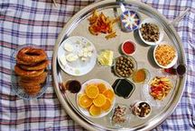 I love Turkish Breakfast! / I have been eating Turkish-style breakfast for years now and can't conceive of anything else.. white cheese, olives, tomatoes, cucumbers, sometimes eggs, and bread! Oh yes - and tea too!