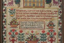 Antiek Samplers and Cross Stitch continued! / by Sharon Reilly