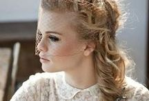 Wedding hair messy braids