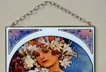 Alphonse Mucha, Small, Stained Glass, Vitrage / The closeness of the copy is gained due to digital typewriter. The print is protected by two pieces of 1,3 mm thick glass that are embedded into the thin lead section and soldered by tin. We use special UV stabilized paints. This window-pane is suitable for windows or to hang on a wall like a picture. The window-pane is provided in a three-layer pasteboard made specifically for this product. This box serves for safe transfer as well as an exquisite gift packaging.