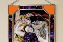 Gustav Klimt, Bonded, Stained Glass, Vitrage / The closeness of the copy is gained due to digital typewriter. The print is protected by two pieces of 1,3 mm thick glass that are embedded into the thin lead section and soldered by tin. We use special UV stabilized paints. This window-pane is suitable for windows or to hang on a wall like a picture. The window-pane is provided in a three-layer pasteboard made specifically for this product. This box serves for safe transfer as well as an exquisite gift packaging.