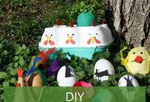 DIY zu Ostern / Zu Ostern macht basteln besonders viel Spaß: Frische Farben, tolle Materialien und süße Motive. Wir haben schöne DIY-Ideen für Sie gesammelt.