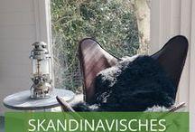 Skandinavisches Design /  Der skandinavische Look entsteht durch das Motto: Keep it simple. Kein Schnick-Schnack oder Nippes, dafür Möbel aus hochwertigen, umweltfreundlichen Naturprodukten und Handarbeiten aus Stoffen.