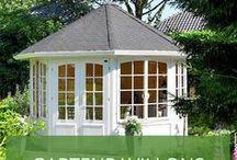 Gartenpavillons / Sie möchten Luft und Licht in Ihr Gartenhaus lassen? Dann ist eine Gartenlaube oder ein Gartenpavillon genau das Richtige für Sie. Wer eine Laube oder einen Holzpavillon in seinem Garten hat, wird auch nie mehr von einem Sommerregen unangenehm überrascht.