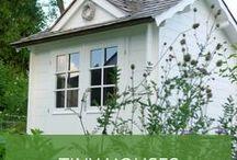 Tiny Houses / Klein, praktisch, wohnlich - Das sind Tiny Houses. In Deutschland werden sie auch oft Mini Häuser genannt. Niedlich, oder?