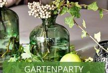 Gartenparty Tischdeko / Sie planen ein Fest in Ihrem Garten? Da sollte auch die Tischdeko hübsch und thematisch passend sein. Wir haben Inspirationen gesammelt, damit Ihr Gartenfest zum Hingucker wird.