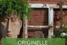 Originelle Garten-Deko / Kreative und ausgefallene Deko-Ideen für den Garten - Beton, Mosaik und vieles mehr