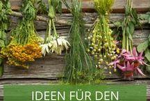 Ideen für den Kräutergarten / Ideen um Kräuter originell und kreativ draußen im Garten anpflanzen.