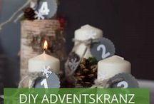 DIY-Adventskranz-Ideen / Erst eins, dann zwei, dann drei, dann vier....Schon in Adventsstimmung? Auf unserer vorweihnachtlichen Pinnwand können Sie sich inspirieren lassen für etwas andere DIY-Adentskränze.