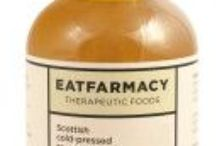 """Eatfarmacy /  """"Let food be thy medicine and medicine be thy food."""" Hippocrates  EATFARMACY is about great tasting foods which fuse science & gastronomy to create products which are both delicious and good for you. Give yourself permission to indulge with the uniquely nutritious EATFARMACY range"""