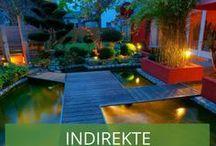 Indirekte Beleuchtung im Garten / Sie möchten Ihren Garten verschönern und eine angenehme Atmosphäre schaffen? Dann ist indirekte Gartenbeleuchtung genau das Richtige für Sie! Auch Gartenhäuser können wunderbar innen und außen indirekt beleuchtet werden. Wir zeigen Ihnen tolle Insprationen für indirektes Licht für ein entspanntes Ambiente.