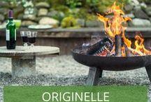 Originelle Grillplätze im Garten / Ein eigener Grillplatz bzw. eine Feuerstelle ist der perfekte Ort, um mit Freunden, Familie oder auch alleine laue Sommerabende im Garten zu verbringen. Lassen Sie sich von uns zur einer Feuerstelle im eigenen Garten inspirieren - ob mit Feuerschale, Feuerkorb, Grill oder Outdoor-Kamin.