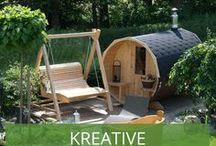 Kreative Saunahäuser und Saunalandschaften / Entspannung pur - diese Kunden waren bei der Gestaltung Ihrer Sauna besonders kreativ und haben eine ganze Saunalanschaft dazu gestaltet und so ihr Saunahaus in eine Wellness-Oase verwandelt.