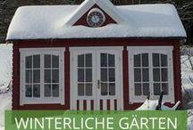 Winterliche Gärten und Gartenhäuser / Vor allem in der kalten Jahreszeit sehnen wir uns nach Wärme und Gemütlichkeit. Dementsprechend viel zeit verbringen wir im Haus. Doch fällt erst der erste Schnee werden viele von uns wieder Kind, denn wer kann diesen malerisch verschneiten Gärten und Landschaften schon wiederstehen?