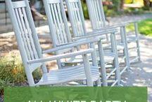 All White Party - Mottoparty Ideen / Egal ob Deko-, Kleidung- oder Buffetinspirationen für die All White Party im eigenen Garten: Die schönsten Ideen passend zum Anlass.