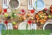 Frühlingsrezepte / Der Frühling ist da: Im Garten sprießen junges Grün und Gemüse, wohin man schaut. Wir hoffen, Sie mit diesen Rezeptideen auf den Geschmack zu bringen und wünschen viel Spaß beim Nachkochen! Guten Appetit!
