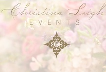 christina leigh events / my blogs, weddings and events in a Pinterest portfolio / by Christina @ Christina Leigh Events
