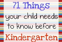 Kindergarten / Educational crafts, projects and/or experiments for you little ones headed into kindergarten. / by Samantha Nix