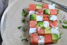 Summer / Seasonal dishes with Corn, Tomatoes, Zucchini, Peaches, etc...