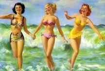 Bathing Suit Beauties / Pin-up girls in swimwear