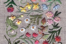 Embroidered Items, Kits, Patterns. /  FEEL FREE TO PIN AS MANY OF THESE PINS AS YOU LIKE, and without feeling obliged to follow the board too! GO FOR IT, RELAX, ENJOY.  Showing finished embroidery incl those of kits and patterns for purchase.