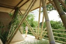 Bamboo - Building Trends / Bamboo is rapidly becoming a popular material for construction. Many architects around the world are using bamboo to build buildings, sculptures, etc. This board is a record of developing bamboo construction trend around the world.