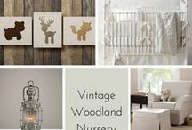 Interiors : Woodland inspired nursery / I always wanted to have a woodland's inspired nursery for Nyneve. Never happened but she still has a pretty awesome room.