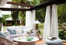 Outdoor rooms / Clever ideas with curtains in outdoor rooms